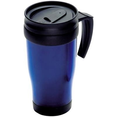 Picture of THERMAL INSULATED PLASTIC TRAVEL MUG in Blue