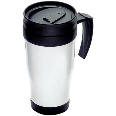 Picture of THERMAL INSULATED PLASTIC TRAVEL MUG in White