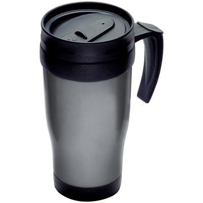 Picture of THERMAL INSULATED PLASTIC TRAVEL MUG in Grey