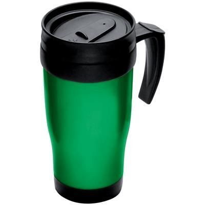 Picture of THERMAL INSULATED PLASTIC TRAVEL MUG in Green