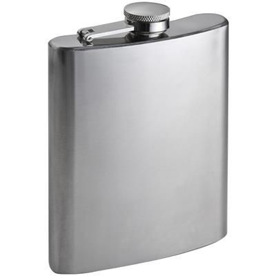 Picture of SILVER STAINLESS STEEL METAL HIP FLASK