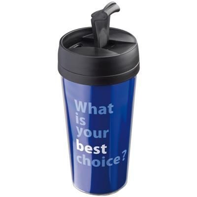 Picture of THERMAL INSULATED TRAVEL MUG with Paper Inlay in Black