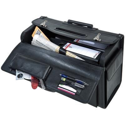 Picture of CRISMA PILOT DOCUMENT TROLLEY BAG in Black