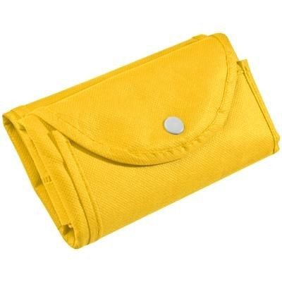 Picture of FOLDING NON WOVEN SHOPPER TOTE BAG in Yellow