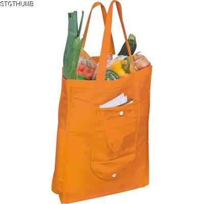 Picture of FOLDING NON WOVEN SHOPPER TOTE BAG in Orange