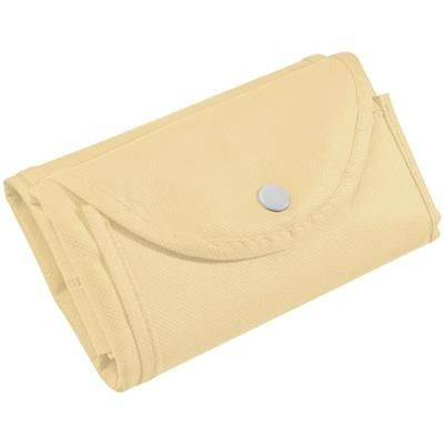 Picture of FOLDING NON WOVEN SHOPPER TOTE BAG in Beige