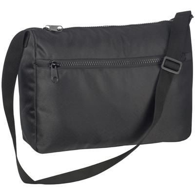 Picture of TWILL COLLEGE DOCUMENT SHOULDER BAG in Black