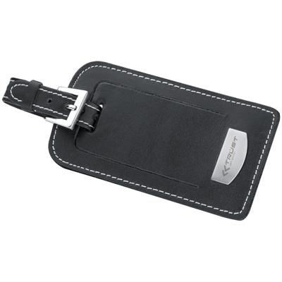 Picture of DELUXE LEATHER LUGGAGE TAG in Black