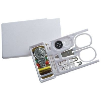 Picture of COMPACT TRAVEL SEWING KIT in Sliding White Plastic Case