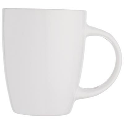 Picture of WHITE CERAMIC POTTERY MUG with 350ml Capacity