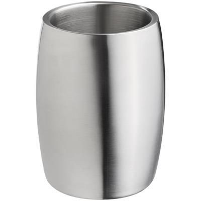 Picture of DOUBLE WALL STAINLESS STEEL METAL WINE BOTTLE COOLER