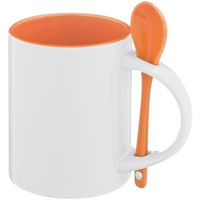 Picture of MUG with Spoon in Orange