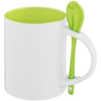 Picture of MUG with Spoon in Apple Green