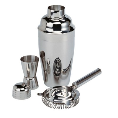 Picture of SILVER CHROME EFFECT COCKTAIL SHAKER SET