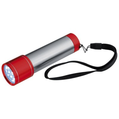 Picture of STAINLESS STEEL METAL LED TORCH in Red