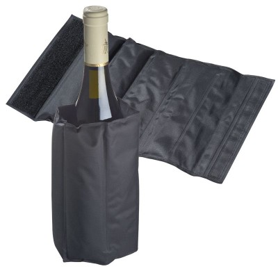 Picture of WINE BOTTLE COOLER with Cooling Pads in Black