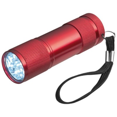 Picture of ALUMINIUM METAL LED TORCH in Red