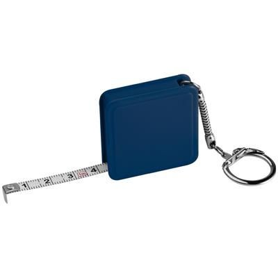 Picture of 1 METER STEEL MEASURING TAPE with Keyring Chain in Blue