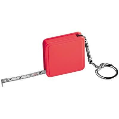 Picture of 1 METER STEEL MEASURING TAPE with Keyring Chain in Red