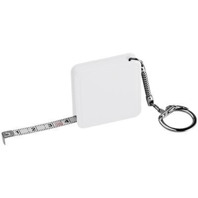 Picture of 1 METER STEEL MEASURING TAPE with Keyring Chain in White