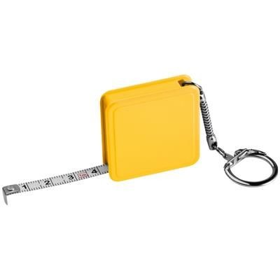 Picture of 1 METER STEEL MEASURING TAPE with Keyring Chain in Yellow