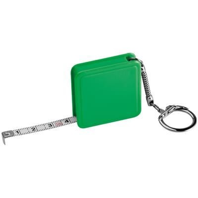 Picture of 1 METER STEEL MEASURING TAPE with Keyring Chain in Green