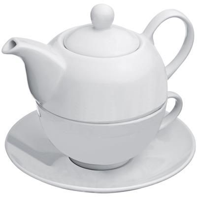 Picture of PORCELAIN TEA SET in White