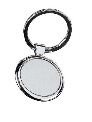 Picture of ROUND DISC METAL KEYRING in Silver