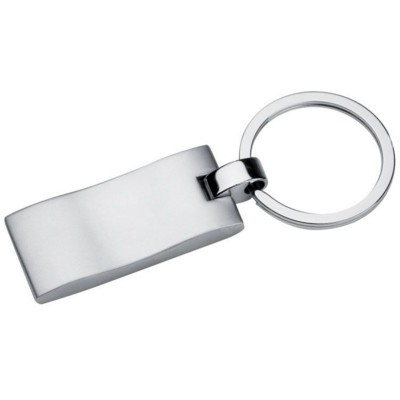 Picture of WAVE METAL KEYRING in Silver