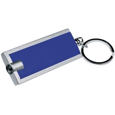 Picture of KEYRING with White LED in Blue