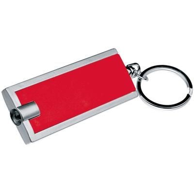Picture of KEYRING with White LED in Red