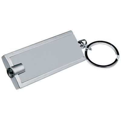 Picture of BLACK AND SILVER KEYRING CHAIN