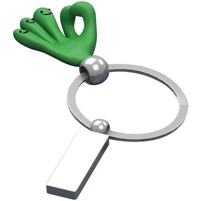 Picture of SMILE HANDS KEYRING in Green