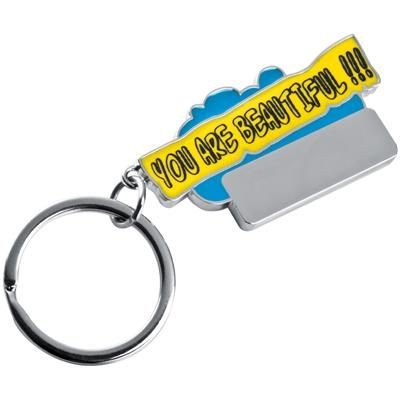 Picture of YOU ARE BEAUTIFUL KEYRING in Light Blue