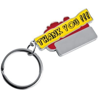 Picture of THANK YOU KEYRING in Red