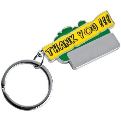 Picture of THANK YOU KEYRING in Green