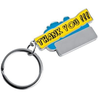 Picture of THANK YOU KEYRING in Light Blue