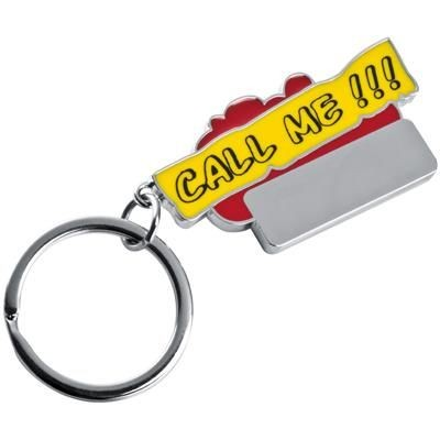 Picture of CALL ME KEYRING in Red