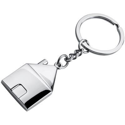 Picture of METAL HOUSE KEYRING in Silver