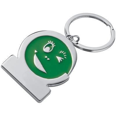 Picture of SMILEY KEYRING in Green