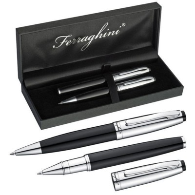 Picture of FERRAGHINI WRITING SET in Black