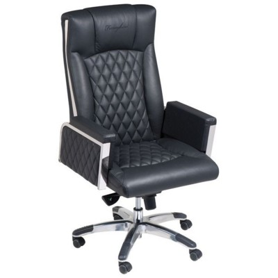 Picture of FERRAGHINI OFFICE CHAIR with Broad Arm Rest in Black