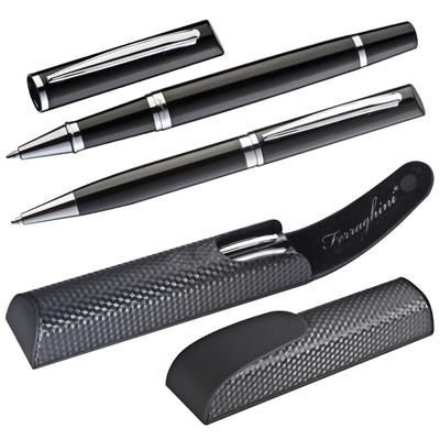 Picture of CARBON FERRAGHINI METAL WRITING SET