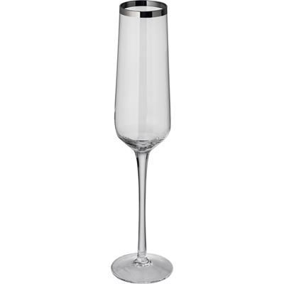 Picture of SET OF 6 CRYSTAL CHAMPAGNE GLASS MOUTH-BLOWN & DISHWASHER SAFE