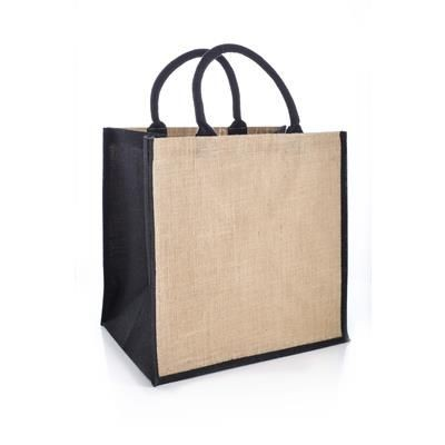 Picture of AMAZON JUCO REUSABLE SHOPPER TOTE BAG with Black Handles & Gusset