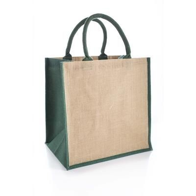 Picture of AMAZON JUCO REUSABLE SHOPPER TOTE BAG with Green Handles & Gusset