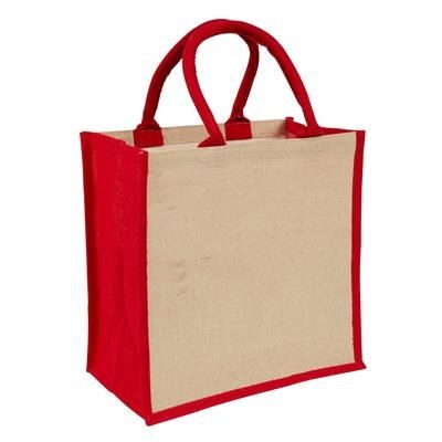 Picture of AMAZON JUCO REUSABLE SHOPPER TOTE BAG with Red Handles & Gusset