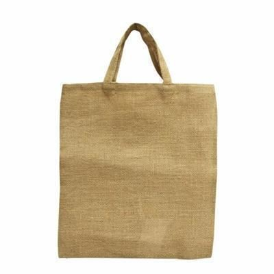 Picture of BRIDGEWATER JUTE TOTE BAG with Natural Soft Loop Handles