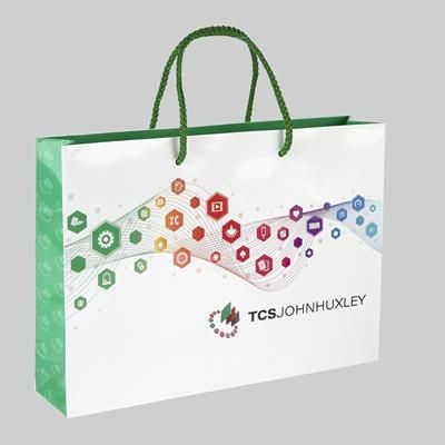 Picture of DRIVER LUXURY PAPER CARRIER BAG with Gloss Finish & Shoulder Rope Handles