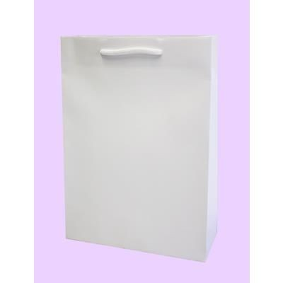 Picture of JUPITER A4 SIZE WHITE KRAFT RECYCLABLE PAPER CARRIER BAG